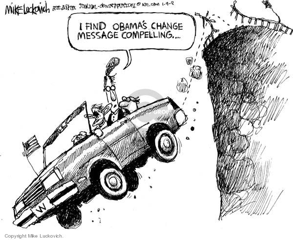 Cartoonist Mike Luckovich  Mike Luckovich's Editorial Cartoons 2008-01-10 Presidency