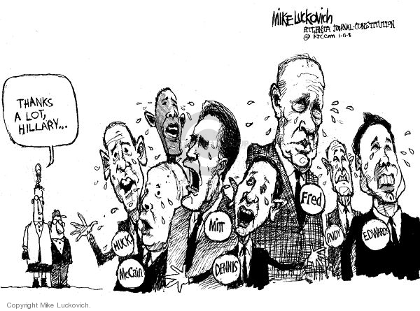 Mike Luckovich  Mike Luckovich's Editorial Cartoons 2008-01-11 Mike Huckabee