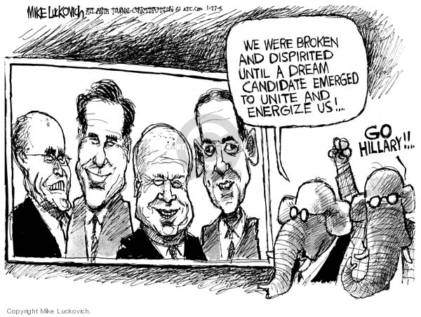 Mike Luckovich  Mike Luckovich's Editorial Cartoons 2008-01-27 opposition