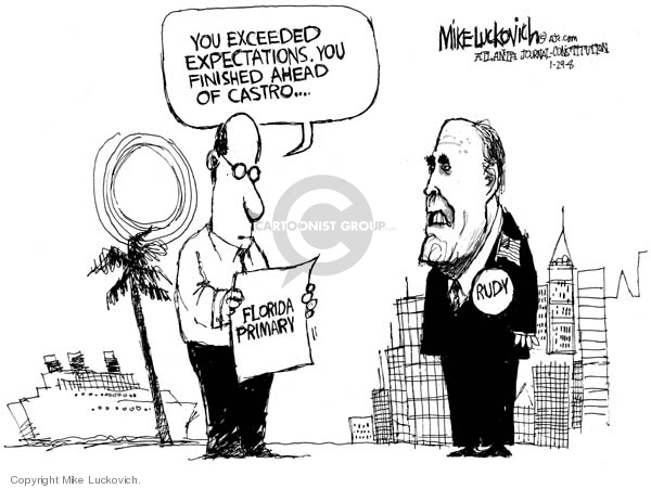 Mike Luckovich  Mike Luckovich's Editorial Cartoons 2008-01-30 Rudy Giuliani