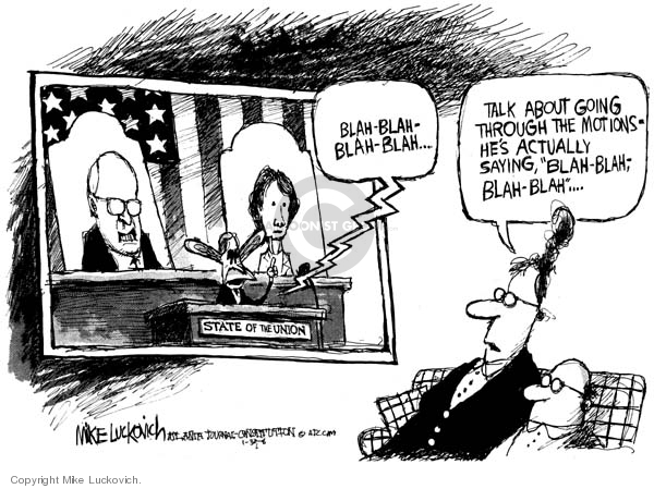 Cartoonist Mike Luckovich  Mike Luckovich's Editorial Cartoons 2008-01-31 blah