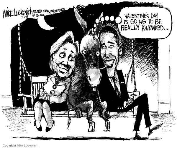 Mike Luckovich  Mike Luckovich's Editorial Cartoons 2008-02-06 Valentine's Day