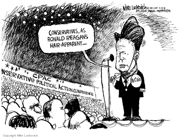 Cartoonist Mike Luckovich  Mike Luckovich's Editorial Cartoons 2008-02-11 Ronald