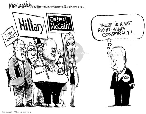 Mike Luckovich  Mike Luckovich's Editorial Cartoons 2008-02-13 opposition