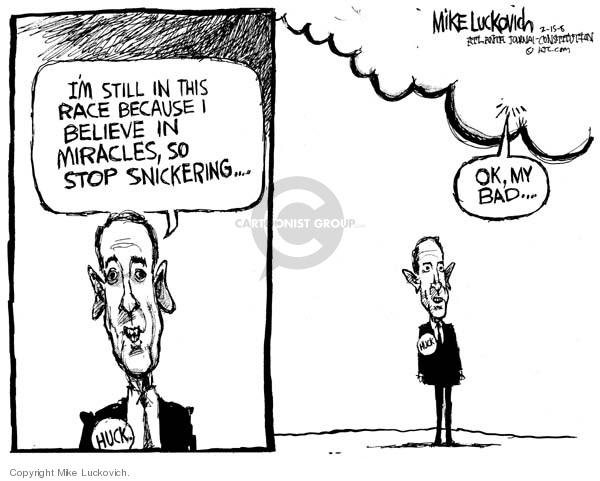 Mike Luckovich  Mike Luckovich's Editorial Cartoons 2008-02-15 Mike Huckabee