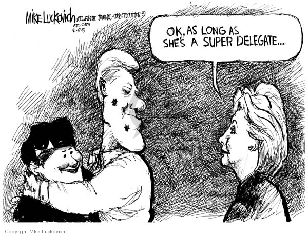 Mike Luckovich  Mike Luckovich's Editorial Cartoons 2008-02-17 delegate