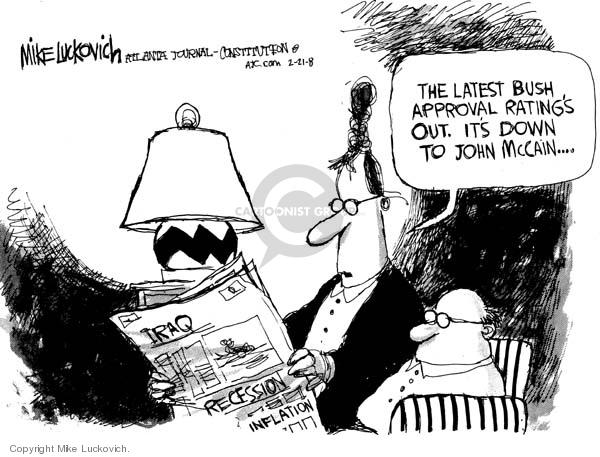 Mike Luckovich  Mike Luckovich's Editorial Cartoons 2008-02-21 republican politician