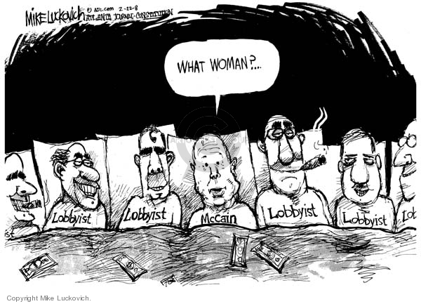 Cartoonist Mike Luckovich  Mike Luckovich's Editorial Cartoons 2008-02-25 woman