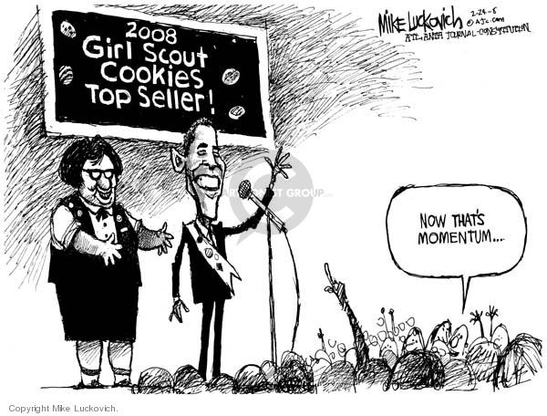 Cartoonist Mike Luckovich  Mike Luckovich's Editorial Cartoons 2008-02-22 girl
