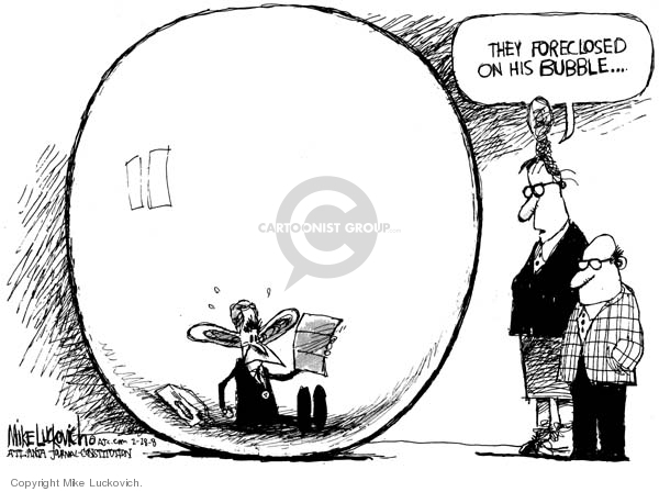 Cartoonist Mike Luckovich  Mike Luckovich's Editorial Cartoons 2008-02-29 mortgage