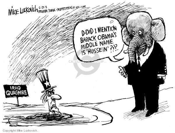 Cartoonist Mike Luckovich  Mike Luckovich's Editorial Cartoons 2008-02-29 name