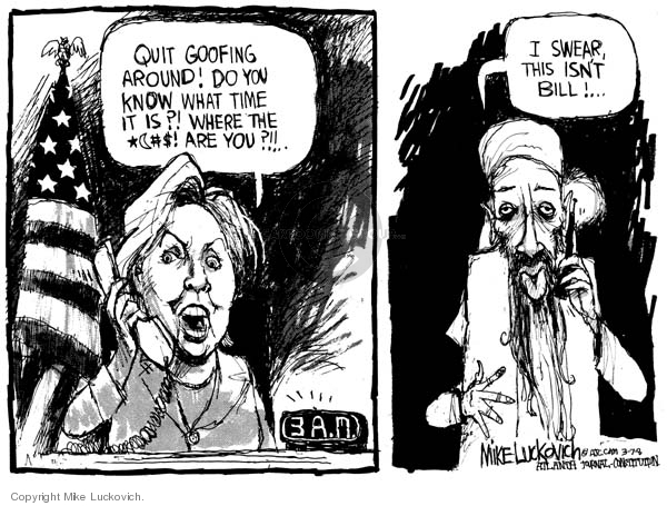 Cartoonist Mike Luckovich  Mike Luckovich's Editorial Cartoons 2008-03-09 answer