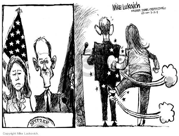 Cartoonist Mike Luckovich  Mike Luckovich's Editorial Cartoons 2008-03-14 Eliot