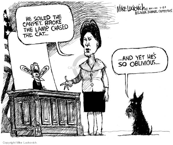 Cartoonist Mike Luckovich  Mike Luckovich's Editorial Cartoons 2008-03-18 first lady