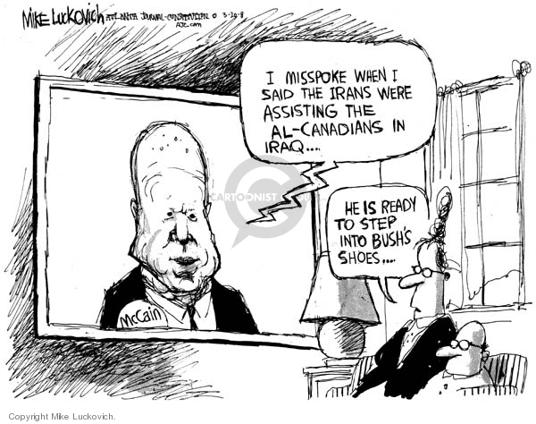 Cartoonist Mike Luckovich  Mike Luckovich's Editorial Cartoons 2008-03-20 communication