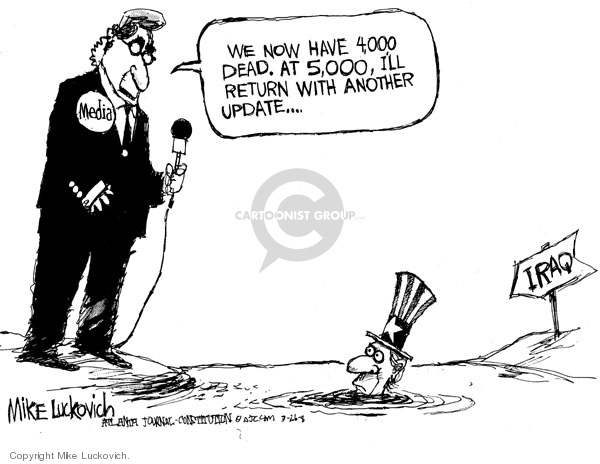 Cartoonist Mike Luckovich  Mike Luckovich's Editorial Cartoons 2008-03-26 attention