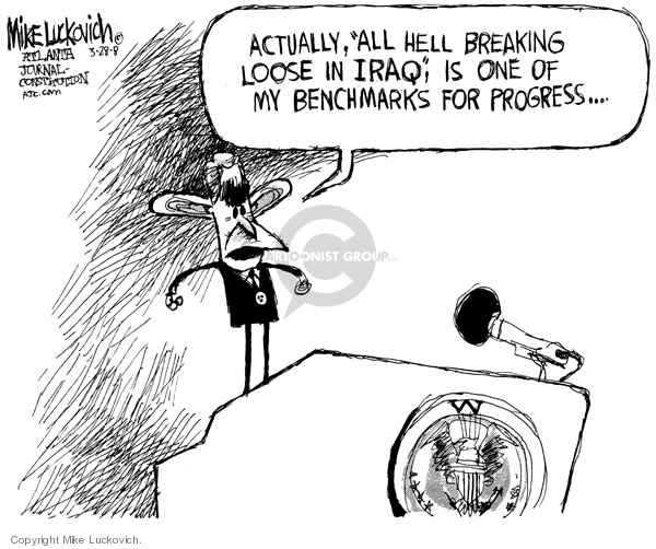 Cartoonist Mike Luckovich  Mike Luckovich's Editorial Cartoons 2008-03-28 Basra