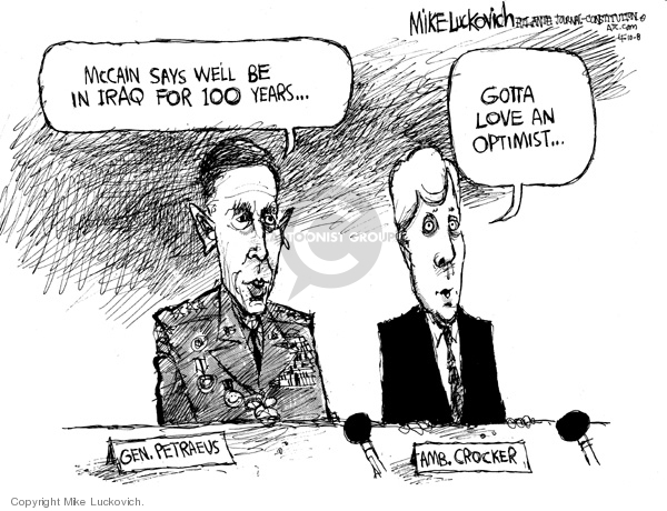 Mike Luckovich  Mike Luckovich's Editorial Cartoons 2008-04-10 Congress and Iraq