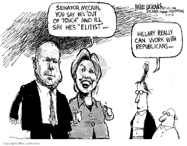 Mike Luckovich  Mike Luckovich's Editorial Cartoons 2008-04-17 republican politician