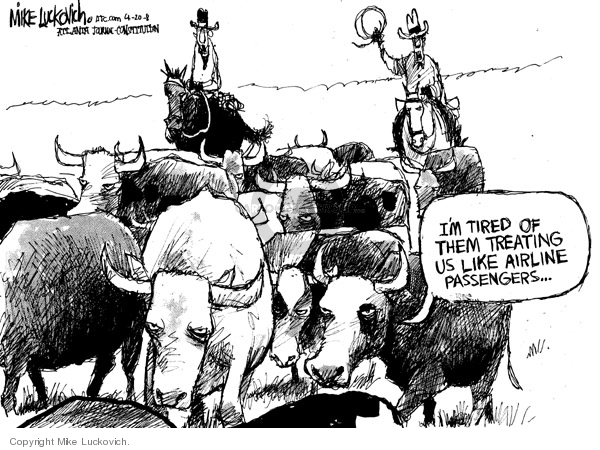 Cartoonist Mike Luckovich  Mike Luckovich's Editorial Cartoons 2008-04-20 cowboy