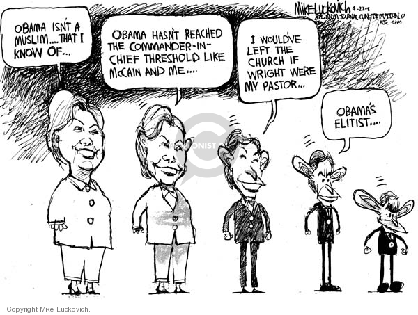 Cartoonist Mike Luckovich  Mike Luckovich's Editorial Cartoons 2008-04-22 racial