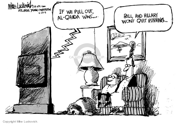 Cartoonist Mike Luckovich  Mike Luckovich's Editorial Cartoons 2008-04-23 William