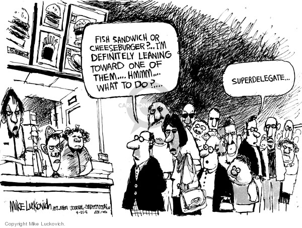 Mike Luckovich  Mike Luckovich's Editorial Cartoons 2008-04-25 delegate
