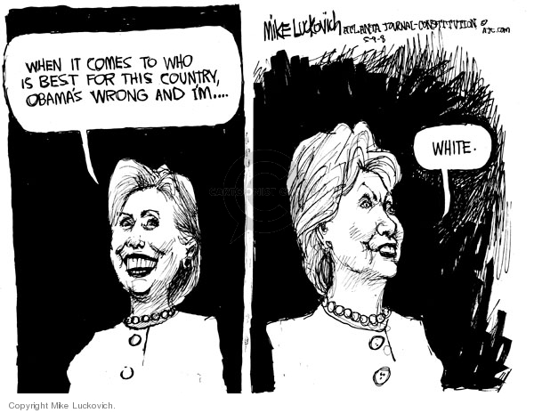 Cartoonist Mike Luckovich  Mike Luckovich's Editorial Cartoons 2008-05-09 racial
