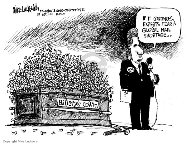 Mike Luckovich  Mike Luckovich's Editorial Cartoons 2008-05-15 death