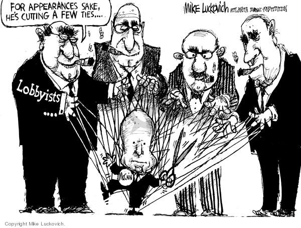 Cartoonist Mike Luckovich  Mike Luckovich's Editorial Cartoons 2008-05-20 tie
