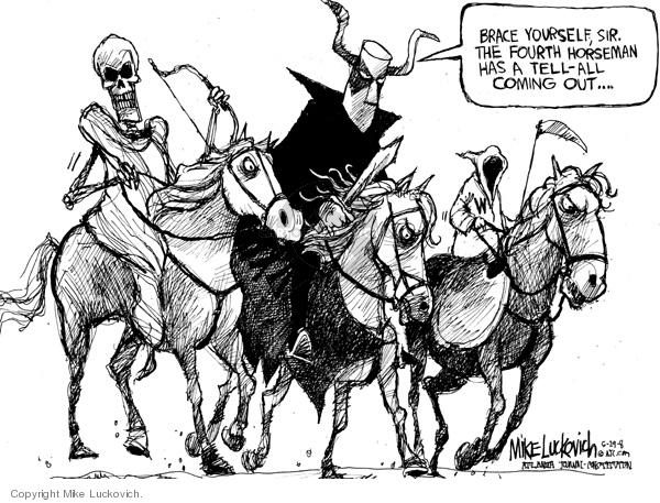 Mike Luckovich  Mike Luckovich's Editorial Cartoons 2008-05-29 press secretary