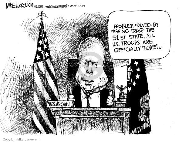 Mike Luckovich  Mike Luckovich's Editorial Cartoons 2008-06-12 soldier