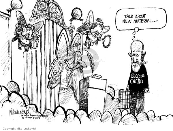Cartoonist Mike Luckovich  Mike Luckovich's Editorial Cartoons 2008-06-24 comedian