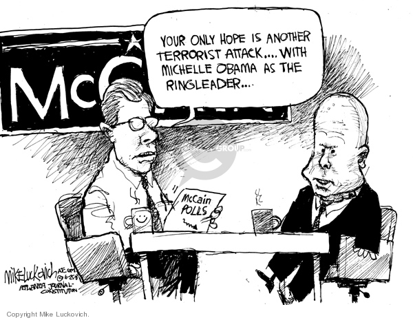 Mike Luckovich  Mike Luckovich's Editorial Cartoons 2008-06-25 Obama terrorism