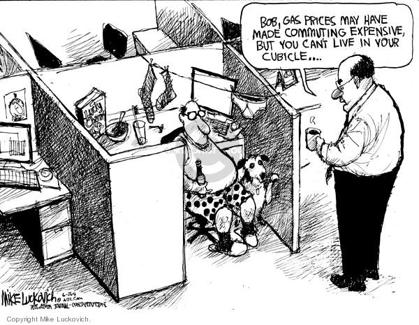 Cartoonist Mike Luckovich  Mike Luckovich's Editorial Cartoons 2008-06-26 employee