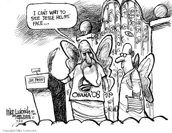 Mike Luckovich  Mike Luckovich's Editorial Cartoons 2008-07-08 2008 election