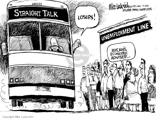 Cartoonist Mike Luckovich  Mike Luckovich's Editorial Cartoons 2008-07-11 advice