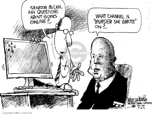 Cartoonist Mike Luckovich  Mike Luckovich's Editorial Cartoons 2008-07-16 old age