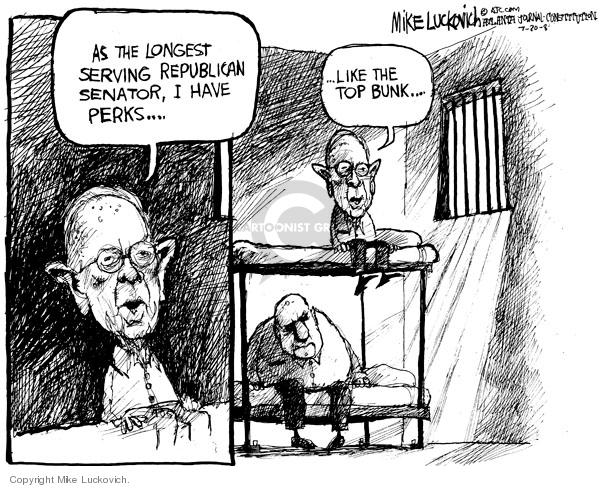Mike Luckovich  Mike Luckovich's Editorial Cartoons 2008-07-30 republican politician
