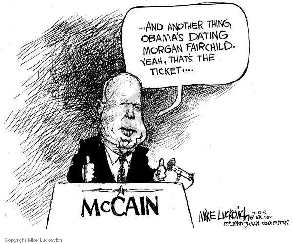 Cartoonist Mike Luckovich  Mike Luckovich's Editorial Cartoons 2008-07-31 age