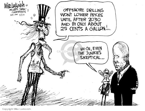 Mike Luckovich  Mike Luckovich's Editorial Cartoons 2008-08-01 even
