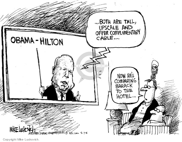 Mike Luckovich  Mike Luckovich's Editorial Cartoons 2008-08-07 2008 election