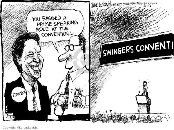 Cartoonist Mike Luckovich  Mike Luckovich's Editorial Cartoons 2008-08-11 Edward