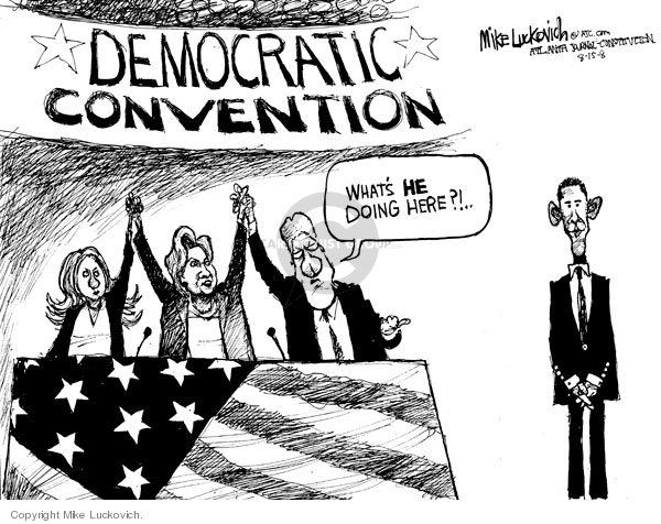 Mike Luckovich  Mike Luckovich's Editorial Cartoons 2008-08-15 2008 political convention