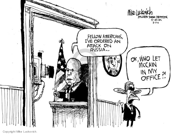 Cartoonist Mike Luckovich  Mike Luckovich's Editorial Cartoons 2008-08-15 Russia