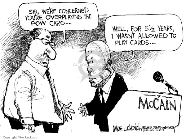 Mike Luckovich  Mike Luckovich's Editorial Cartoons 2008-08-27 veteran