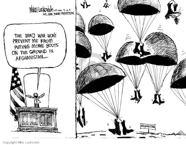Mike Luckovich  Mike Luckovich's Editorial Cartoons 2008-09-10 soldier