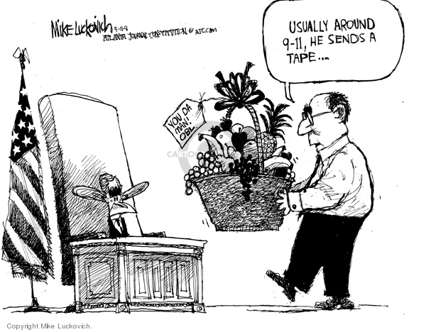 Cartoonist Mike Luckovich  Mike Luckovich's Editorial Cartoons 2008-09-11 September 11, 2001