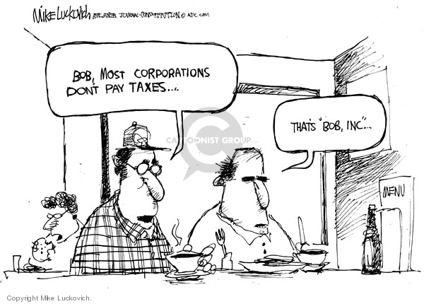 Cartoonist Mike Luckovich  Mike Luckovich's Editorial Cartoons 2008-09-24 business tax