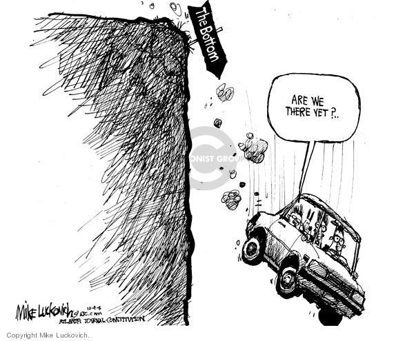 Cartoonist Mike Luckovich  Mike Luckovich's Editorial Cartoons 2008-10-09 finance investment
